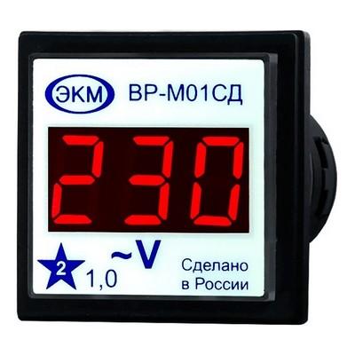 Вольтметр цифровой Меандр ВР-М01-29СД АС15-450В УХЛ4, встраиваемый