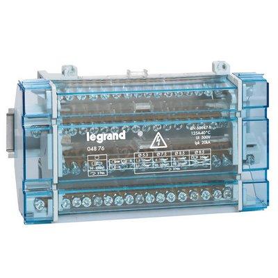 Распределительный блок кросс-модуль Legrand (4х16) 4-полюсный, 125 Ампер, 16 подключений