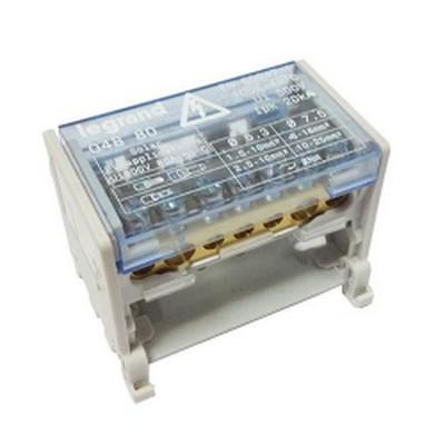 Распределительный блок кросс-модуль Legrand (2х7) 2-полюсный, 100 Ампер, 7 подключений