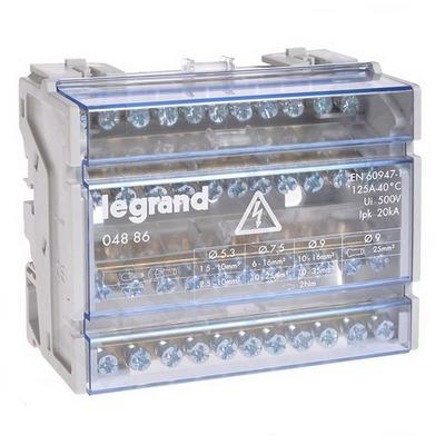 Распределительный блок кросс-модуль Legrand (4х11) 4-полюсный, 125 Ампер, 11 подключений