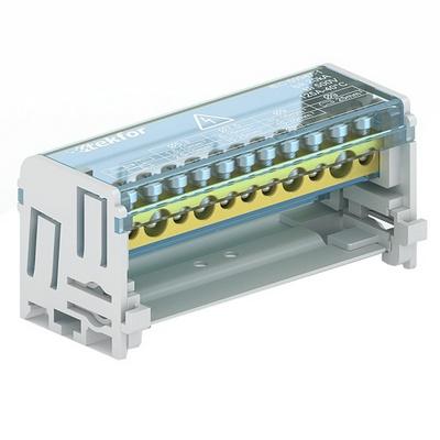 Кросс-модуль 2х7 на DIN-рейку Tekfor SNK-2-2-07 (5х5,3мм+2х9мм) 100 Ампер