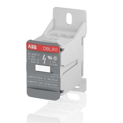 Блок распределительный ABB DBL80 (кросс-модуль), 80А, 1-полюсный