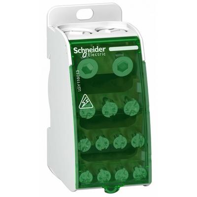 Распределительный блок Schneider Electric 1х13, 1-полюсный, 160 Ампер, 13 отверстий