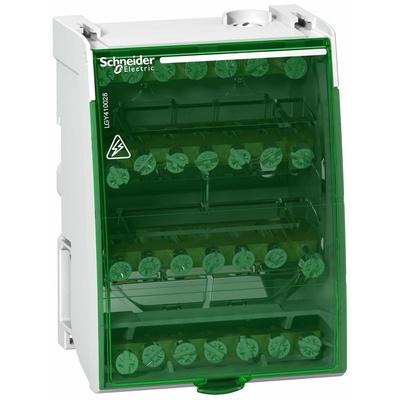 Распределительный блок кросс-модуль Schneider Electric 4х7, 4-полюсный, 100 Ампер, 28 отверстий