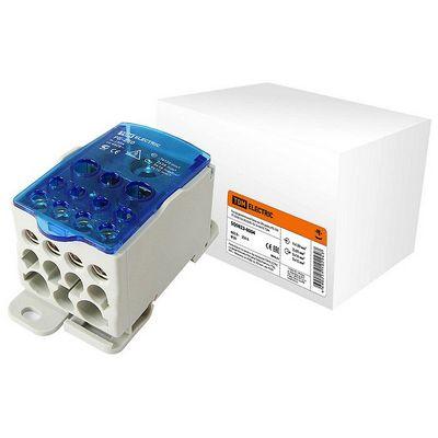 Распределительный блок на DIN-рейку РБ-250 1-полюсный, 250 Ампер (1х120/2x35+5x16+4x10) TDM