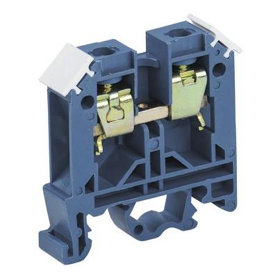 Зажим клеммный ЗНИ-4мм2, наборный (JXB35А) синий ИЭК