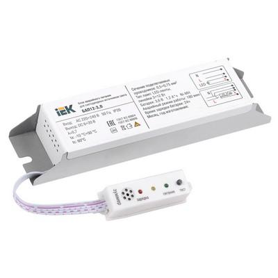 Блок аварийного питания ИЭК БАП12-3,0 (12W) для светодиодных LED светильников IP20 (3часа)