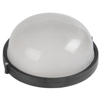 Светильник ИЭК ЖКХ НПП1101, черный, круг, 100Вт IP54