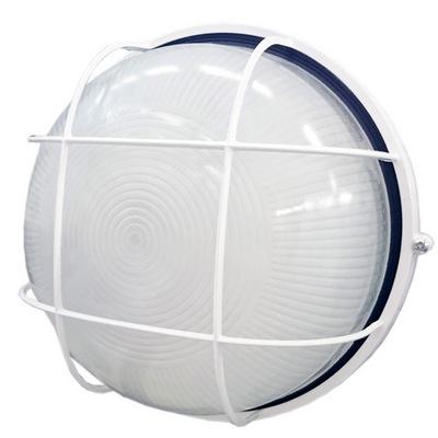Светильник ИЭК ЖКХ НПП1102, белый, круг с решеткой, 100Вт IP54