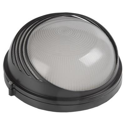 Светильник ИЭК ЖКХ НПП1307, черный, круг ресничка, 60Вт IP54