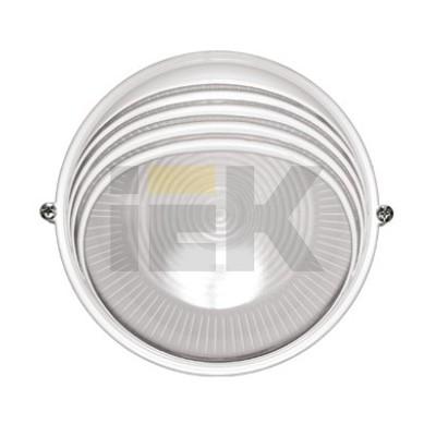Светильник ИЭК ЖКХ НПП1307, белый, круг ресничка, 60Вт IP54