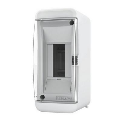 Щит навесной Tekfor, 2 модуля, IP41, прозрачная дверца UNC 40-02-2