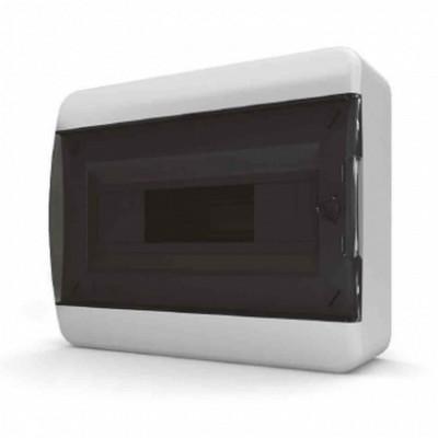 Щит навесной Tekfor 8 модулей IP41, прозрачная черная дверца серии В