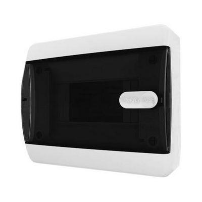 Щит навесной Tekfor 6 модулей IP41, прозрачная черная дверца серии С