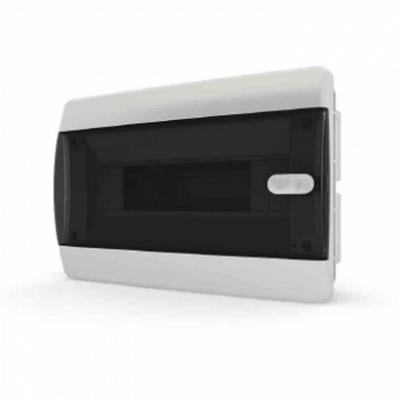 Щит встраиваемый Tekfor 12 модулей IP41, прозрачная черная дверца серии С
