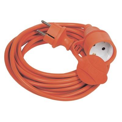 Удлинитель силовой ИЭК УШ-01РВ, 5-метров, 2P+PE, сечение 3х1,0 оранжевый с вилкой и розеткой