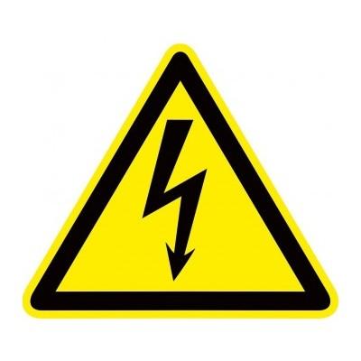 Знак электробезопасности Опасность поражения электрическим током (Молния) W08 (100х100мм.) EKF PROxima